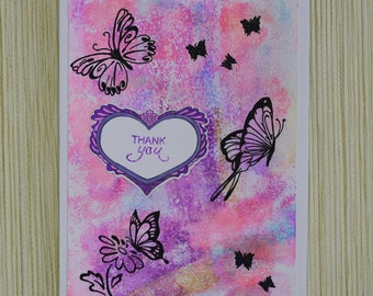 """Tarjeta """"Thank You with Butterflys"""""""