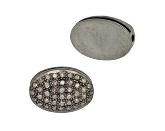 Diamond Flat Oval Bead; 1/2 ctw in Diamonds