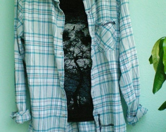 SALE!!  Flannel and Tee Set