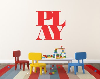 Play Wall Decal Stickers Kids Wall Decal Sticker Home Wall Decor Office Wall Decor Removable Wall Decal Kids Wall Art