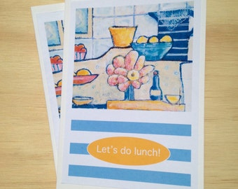 Let's do lunch! - greeting card / gift voucher
