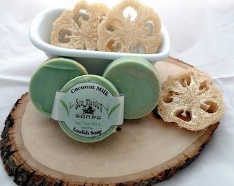 Hand Crafted TEA TREE MINT Coconut Milk Loofah Soap