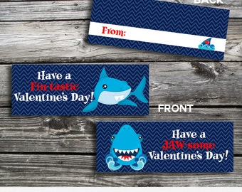 Valentine Bag Topper, Shark Valentine Bag Topper, Instant Download, School Treat, Classroom, Teacher Valentines, Shark Bag Toppers