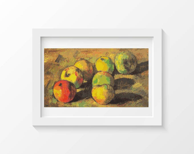 Still Life with Seven Apples Cross Stitch Chart by Paul Cezanne (CEZAN01)