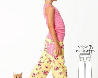 Pants Pattern pdf, Pants Sewing Pattern, Trouser Pattern, Childrens Sewing Pattern, PDF Sewing Pattern, Girls Pants Pattern, COMFY PANTS