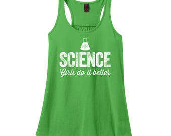 Science Tank Top Graduation Gifts for Women STEM Tank Tops for Women Grad School Graduation Gift Nerdy Graduation Gifts Girls Do it Better