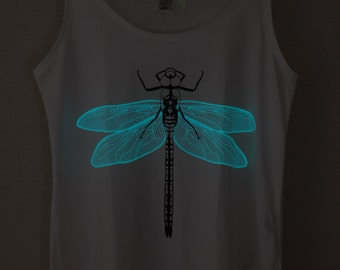 Blue Dragonfly Glow-in-the-dark Woman Tank top