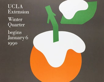 Paul Rand UCLA Extension Winter Quarter January 6 1990 Poster graphic design poster