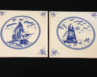 Vintage Dutch Blue Tiles  (LDT4)