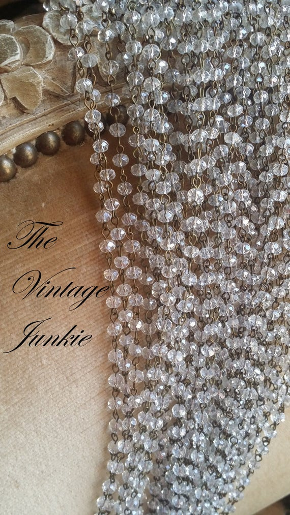 The Vintage Junkie...Long Layering Antique Glass Beaded Necklaces