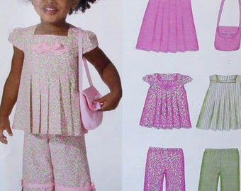 Vintage Simplicity New Look Sewing Pattern 6958 Toddler's Top, Pants & Purse Size: A 1/2-4