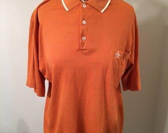 Vintage 80s Penguin Grand Slam by Munsingwear Orange White Polo