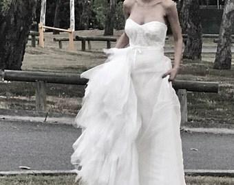Bridal top for garden weddings