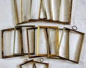 Elegant set of 12 Vintage Metal Picture Frames-Vintage Picture Frames-Gold Frames-8x10 5x7 3x4 Wedding Frames-Wedding Decor-Home Decor