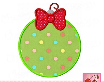 Christmas Ornament Machine Embroidery Applique Design CH0082 -4x4 5x5 6x6 inch
