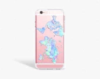 World Map iPhone 7 Plus Case pastel Map iPhone 7 Case Map iPhone 6S Plus Samsung Galaxy S7 Case Clear Samsung Galaxy S8 Plus ase