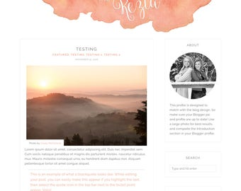 Kezia Blogger Template