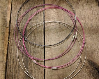 12 Wire Necklace Blanks - Design Your Own Jewlery