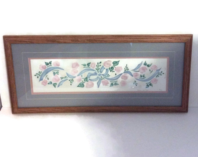 Signed Limited edition Karen Smith print, 241/250, Blossoms and Bows from 1993
