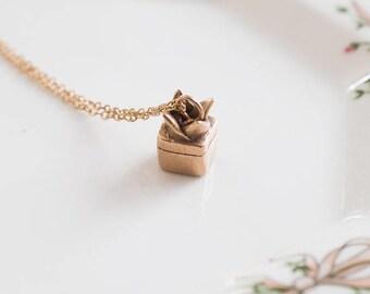 Succulent Necklace Brass Bronze Plant Necklace