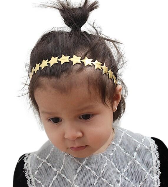 Gold Star Headband, Gold Baby Headband, Gold Headband, Baby Gold Headband, Newborn Headband, Infant Gold Headband, Baby Headband Gold