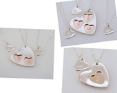 Mother daughters necklace set. Mothers day gift. Gift for mom and daughters