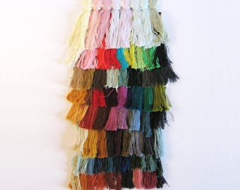 1 Multicolor Cotton Yarn Color Palette - Colorful Fiber Art Supplies -  DIY Yarn Tassels Wall Hanging - Weaving Spinning Embroidery Sewing