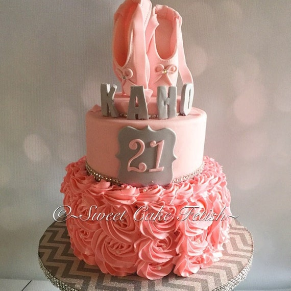 Cake Decorations Ballet Shoes : Ballerina Cake Topper Pink Ballet shoes cake topper ...