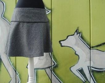 Rock wool rock winter rock herringbone black/white winter skirt ladies