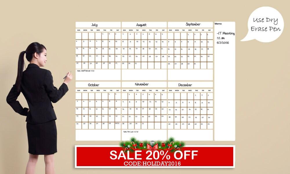 large dry erase calendar dry large erase by shopsimplyperfect