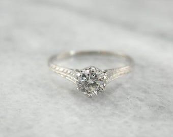 RESERVED - Layaway - Edwardian Diamond Engagement Ring, Platinum Diamond Ring 8JR8CX-R