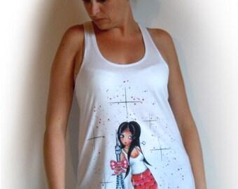 Modal woman SCARLET PARIS cotton tunic top