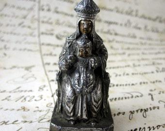 Nice Holy Virgin Mary and Jesus Child Metal - Religious statue - Catholic