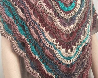 Crochet Shawl, Crochet Scarf, Crochet Wrap, Knit Shawl, Knit Scarf, Knit Wrap, Triangle Shawl, Triangle Scarf, Autumn Shawl, Lace Shawl