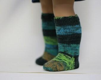 """Hand Knit Doll Socks, American Made for Girl Doll, 18"""" Doll Clothes, Doll Socks, American Doll Socks, Gift for Girl"""
