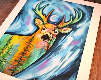 Reverence (Deer) - 11'' x 14''