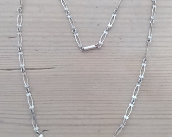 Vintage silver fancy link chain necklace