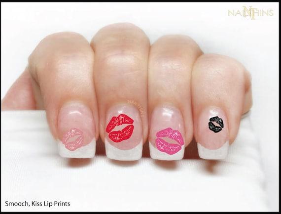 Kiss lip prints nail decal smooch nail wrap nail art lips like this item prinsesfo Choice Image