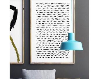 Black And White Abstract Art, Minimalist Print, Large Wall Art, Modern Minimal, Dot Art, Gray Wall Art, Minimalist Art,24x36 Poster, Drawing