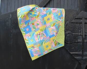 Baby Girl Crib Quilt | Girl Crib Bedding | Baby Girl Blanket | Alphabet Baby Quilt | Baby Girl Nursery | Handmade Baby Quilt | Baby Shower