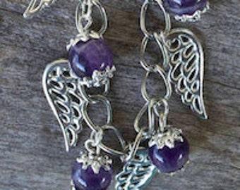 FREE SHIPPING WORLDWIDE-Amethyst Bracelet-Gemstone Bracelet-Purple Bracelet-February Birthstone-Pisces Bracelet-Reiki Jewelry-Adjustable