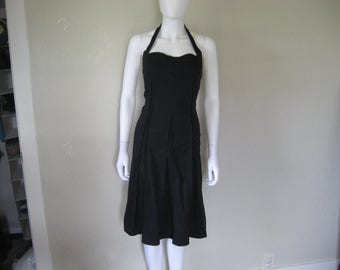 Black cotton halter Dress