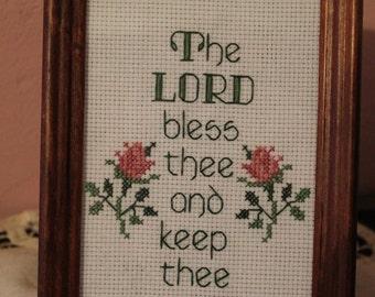 Cross Stitch Blessing