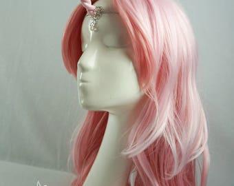 Iridescent pink unicorn horn tiara