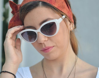 50s Head Scarf, Workout Head Scarf,  Headband, Headband Adult, Woman Top Knot, Saddle Brown Bow, Pin Up Headband, Bow Headband, Head Scarf