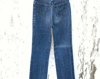 LEVIS Jeans 24 Waist Vintage Mom Jeans Orange Tab