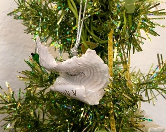 Ceramic Hanging Wave Ornament - White or Gold Hanging Wave Ornaments - They fly through the air with the greatest of ease....