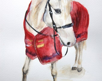 Custom horse portrait, custom horse trait, custom horse painting, animal watercolor, horse back riding, custom pet painting