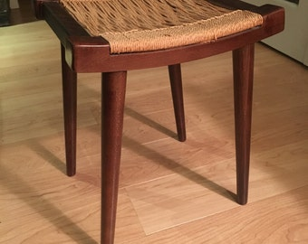 Mid Century Danish Corded Rope Stool