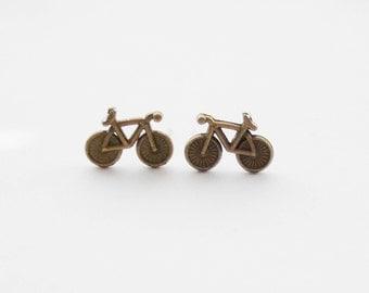 Cyclist Earrings, Cyclist Gifts, Bike Earrings, Bicycle Stud Earrings, Bike Stud, Bicycle Gifts, Bikerider Jewelry, Bike Jewellery